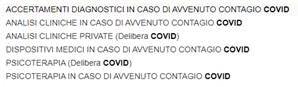 Prestazioni COVID