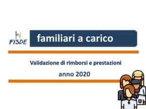 Guida familiari a carico anno di reddito 2020